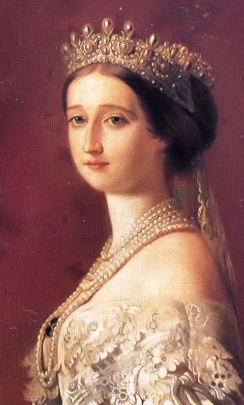 Close-up of the above portrait by Winterhalter