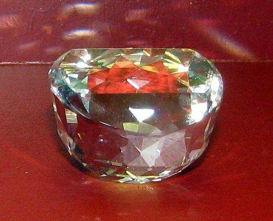 """Copy of the Orlov Diamond in """"Reich der Kristalle""""museum in Munich"""
