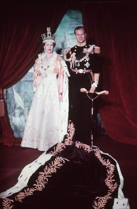 Coronation portrait of Queen Elizabeth II and Prince Philip, Duke of Edinburgh taken by unknown Canadian photographer of the National Film Board of Canada in June 1953