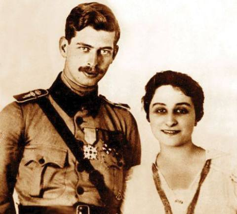 Crown Prince Carol with his first wife Marie Valentina Lambrino