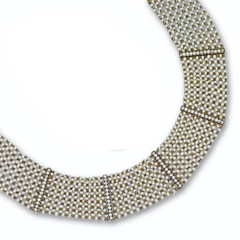 Diamond and Seed Pearl Choker
