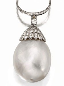 The Duchess of Windsor Pearl and Diamond Pendant