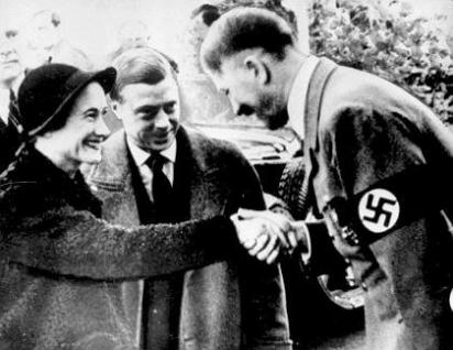 The Duke and Duchess of Windsor with Adolph Hitler in 1937