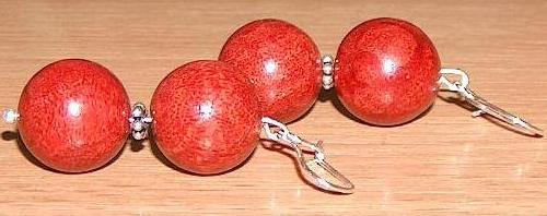 Dyed and Polished Sponge Coral Beads