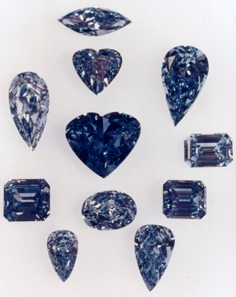 De Beers Millennium Blue Diamonds