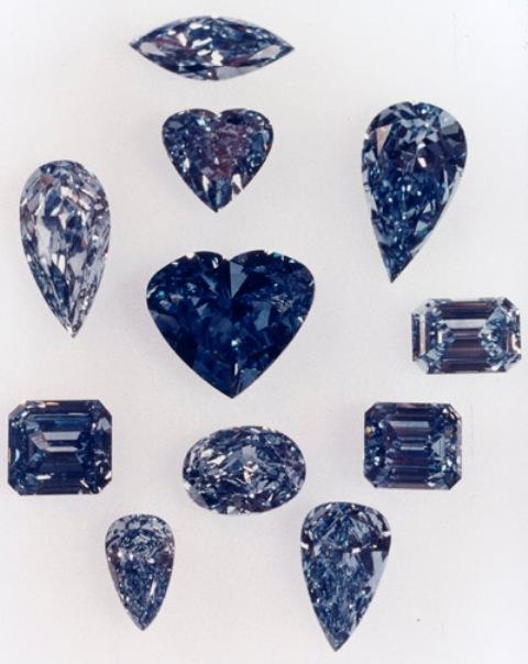 De Beers Millennium Blue Diamonds
