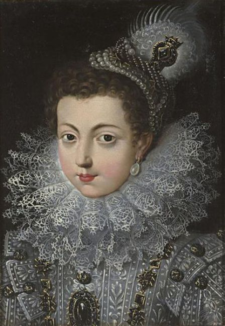 Elizabeth, daughter of Henry IV of France and Marie de Medici, as a young girl in France before her marriage
