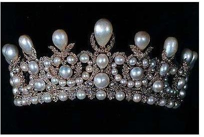 empress eugenie pearl and diamond tiara