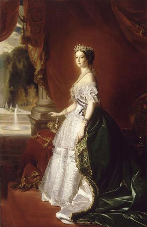 Portrait of Empress Eugenie in 1853, wearing the famous pearl parure