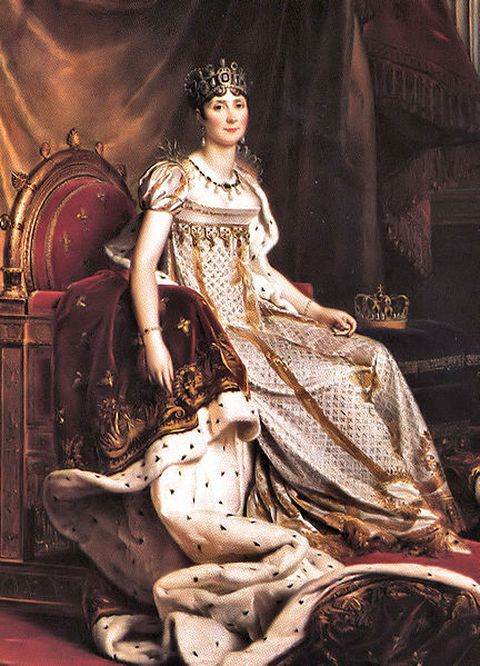 Official Portrait of Empress Josephine in 1808, executed by Francois Gerard