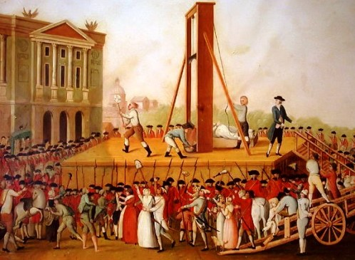 Execution of Marie Antoinette of France on 16th October 1793
