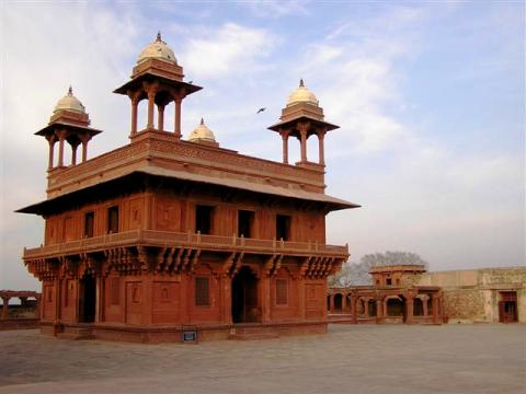 The Fatehpur Sikri, the hall of Private Audience of Emperor Akbar the Great
