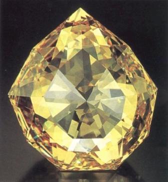 A cubic zirconium replica of the Florentine diamond by Scott Sucher