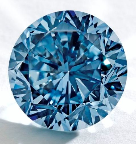 7.59-carat, modern round brilliant-cut Premier Blue diamond