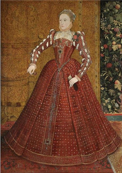 Full length portrait of Elizabeth 1 by Steven van der Meulen around 1563