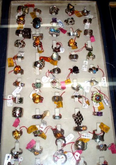 Natural Ceylon gemstone rings