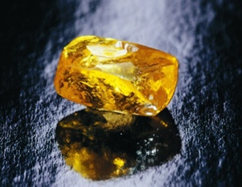 190.72-carat Graff Vivid Yellow rough diamond