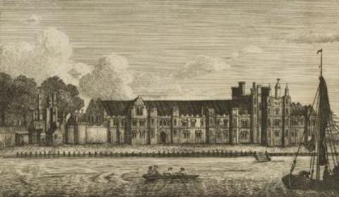 Greenwich Palace where Anne Boleyn gave birth to her first baby, Elizabeth