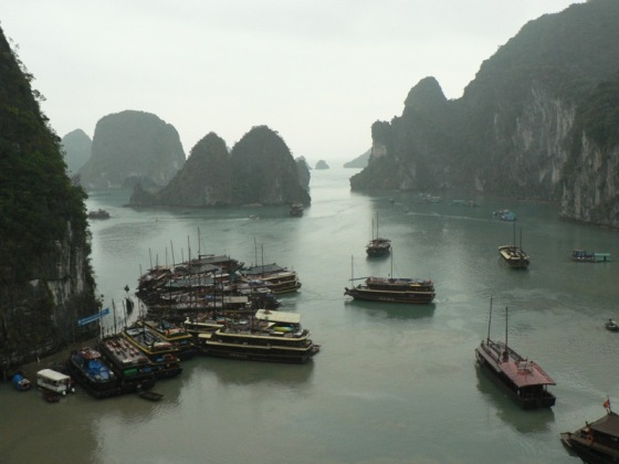 Gulf of Tonkin in the Halong Bay in Vietnam