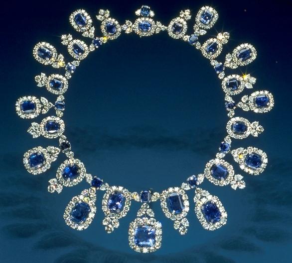 Hall Sapphire and Diamond Necklace