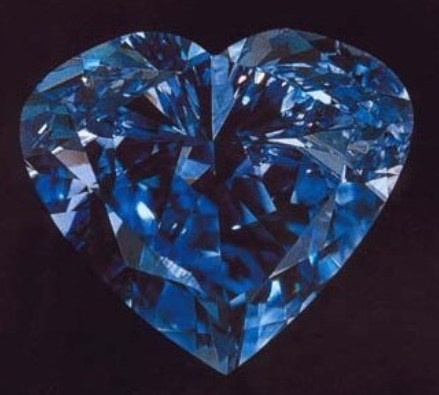 27.64-carat Heart of Eternity diamond, the second largest heart-shaped blue diamond in the world