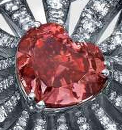 1.73-carat, fancy vivid pink, heart-shaped Lady Leilani Diamond