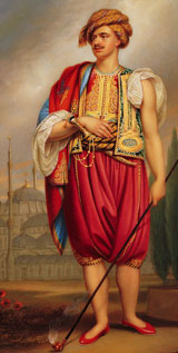 Henry Thomas Hope in Turkish costume