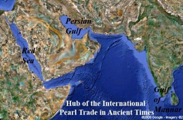 The Persian Gulf, the Red Sea and the Gulf of Mannar - Hub of the international pearl trade in ancient times