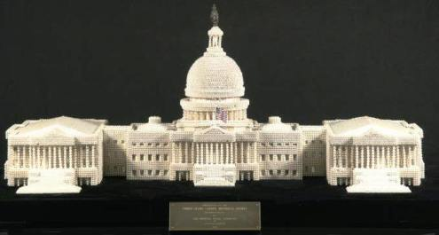 Cultured Pearl Model Of US Capitol Building