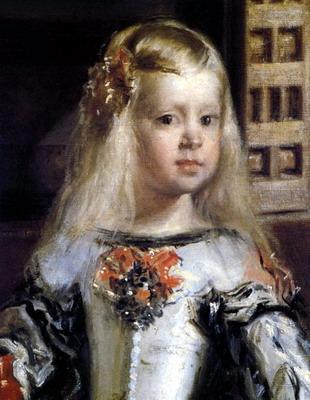 Infanta Margarita Theresa of Spain- Painting by Velazquez