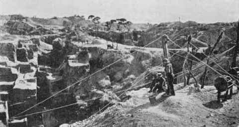 Photograph of the old De Beers mine taken in February 1873