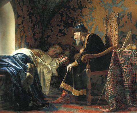 Ivan IV admiring his sixth wife Vasilisa Melentyeva