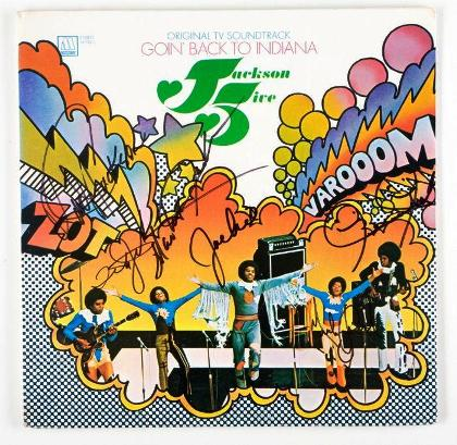 "Lot No:316 Copy of Motown Records signed LP album produced to coincide with the Jackson 5's September 1971 ""Goin Back to Indiana"""