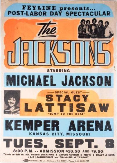 The Jackson's Triumph tour concert poster- 1981