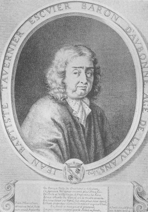 Jean-Baptiste Tavernier- Baron of Aubonne in 1676 at the age of 74