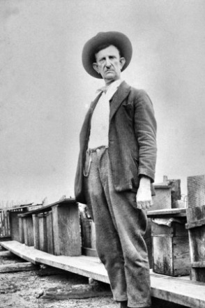 John Wesley Huddleston who first discovered diamonds in the Prairie Creek land