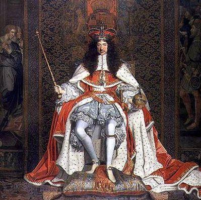 King Charles II of England ,Ireland and Scotland.