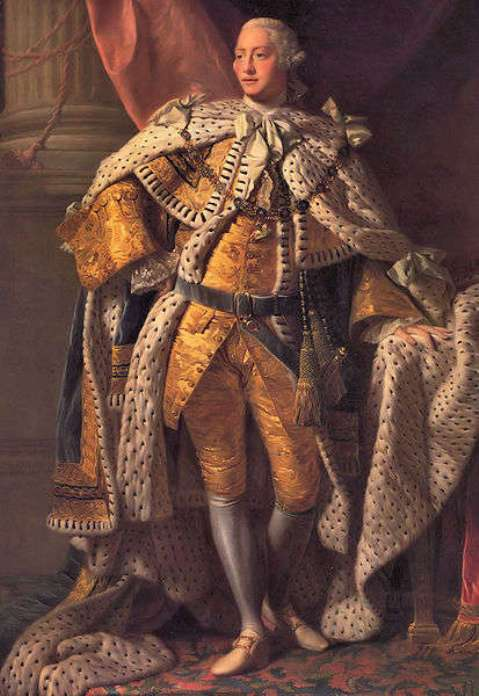 King George III, King of the United Kingdom and Hanover from 1760 to 1820 and husband of Queen Charlotte