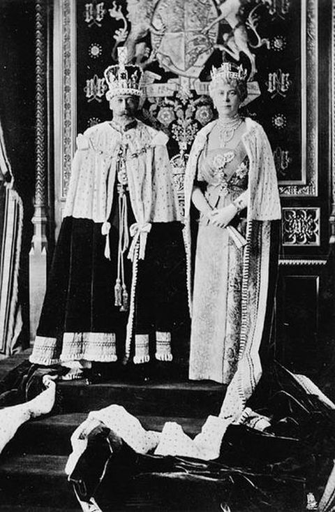 King George V and Queen Mary during a formal occasion