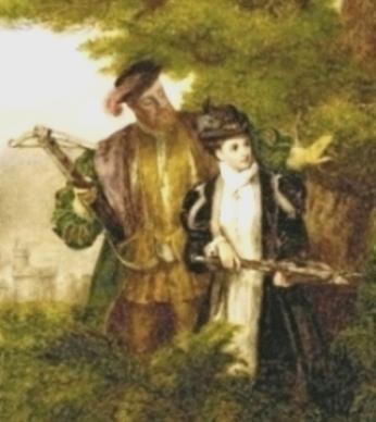 King Henry VIII and Anne Boleyn deer shooting in the Windsor Forest