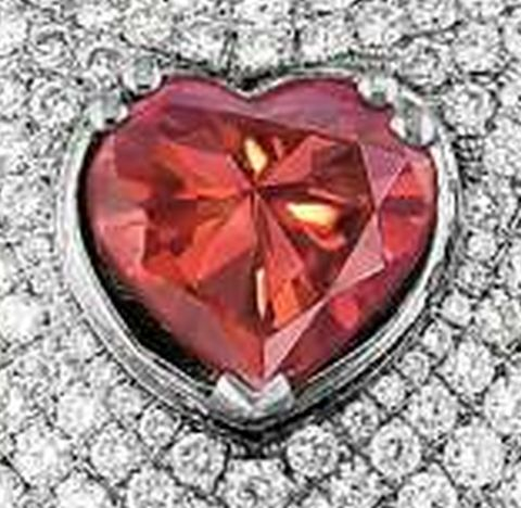 1.71-carat, fancy vivid red, heart-shaped Lady Mandara Diamond