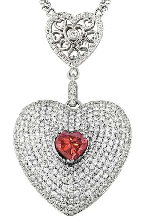 The Lady Mandara Diamond mounted as the centerpiece of a pendant