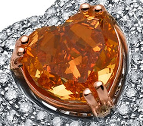 2.00-carat, fancy vivid orange, heart-shaped Lady Orquidea Diamond