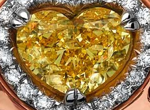 2.26-carat, fancy vivid yellow, heart-shaped Lady Zahira Diamond