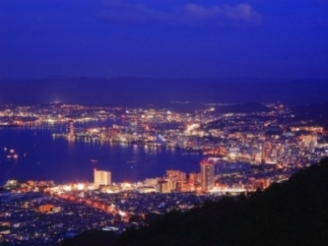 Lake Biwa and the city of Otsu