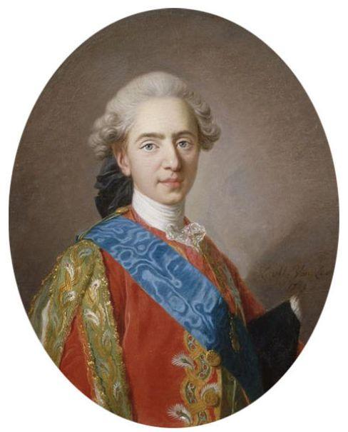 Louis Auguste- Dauphin of France. Portrait by Louis-Michel Van Loo (1769).