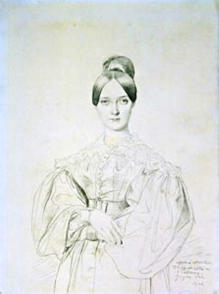 1834 Portrait of Madame Thiers by Ingres