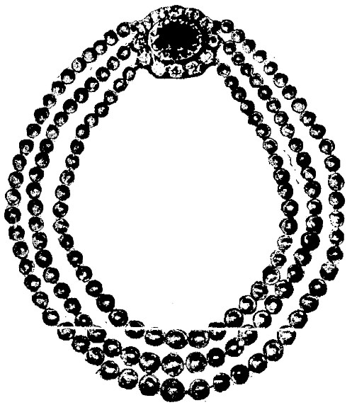 Madame Thiers' Three Stranded Pearl Necklace