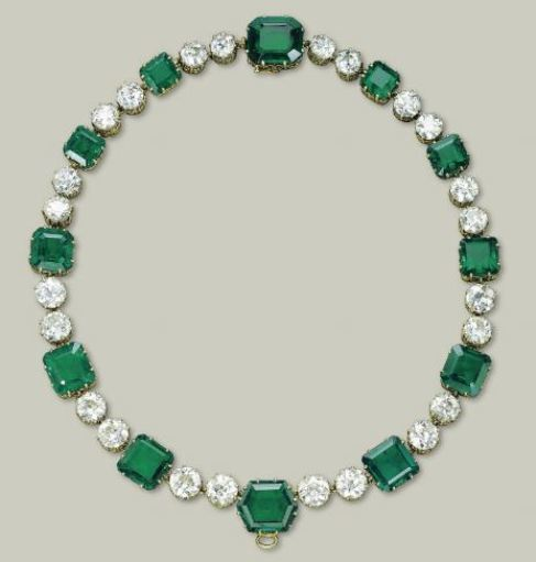 Magnificent Emerald and Diamond Necklace designed by Cartier