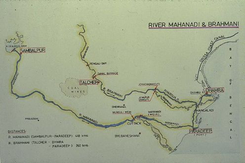 The rivers Mahanadi and Brahani
